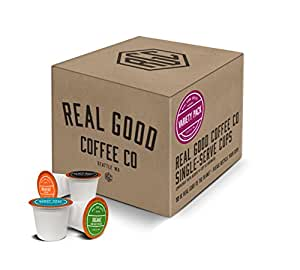 Real Good Coffee Co Variety Pack Coffee K Cups, 36 Count