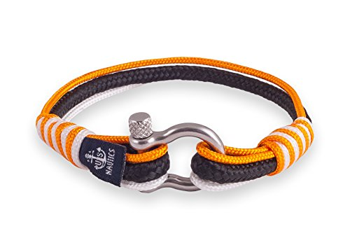 Sydney Delight Nautical Bracelet-By U.S. Nautics- Beautiful Bracelets Made of Yachting Rope- Wide Variety of Different Designs & Colors- Stainless Steel Buckle- Great Gift Idea For Men & Women