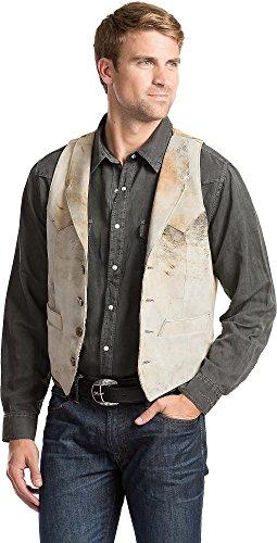 Overland Sheepskin Co Shelton Lambskin Suede Leather Vest