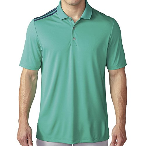 - adidas Golf Men's Climacool 3-Stripes Polo Shirt, Shock Mint/Mineral Blue S, Small