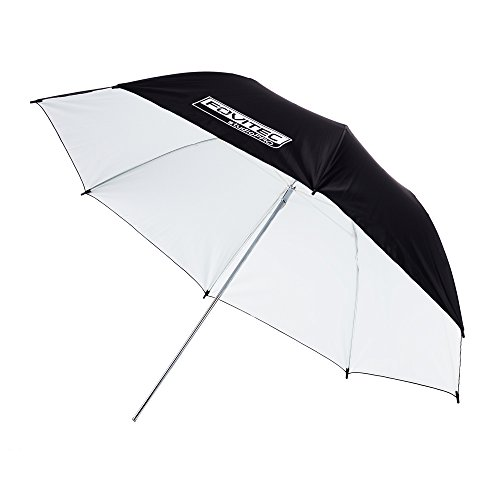 Fovitec - 1x 43 inch White Photography & Video Reflector Umbrella - [Reinforced Fiberglass][Lightweight][Easy Set-up][Collapsible][Durable Nylon] by Fovitec