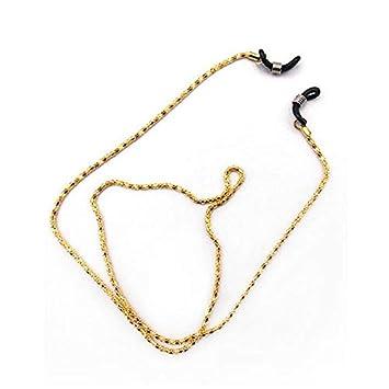 Yogasada Gafas de Metal Cuerda Gafas de Lectura Correa para el Cuello de la Lente Anti Slip Soporte del Cable