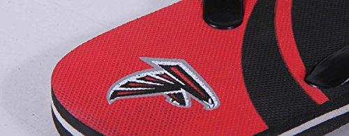 Voor Altijd Verzamelobjecten Vrolijke Voeten Heren En Dames Officieel Gelicentieerd Groot Logo Flip Flops Atlanta Valken