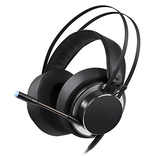 XHKCYOEJ Headset Stereo Headset/Games/Headphones/Computers/Channels/Headphones/Headphones/Games/Mike/Internet Cafes,Black: Amazon.co.uk: Electronics