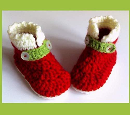 Weihnachts Babyschuhe Babyschuhe Gehäkelt Babyschuhe Häkeln Baby