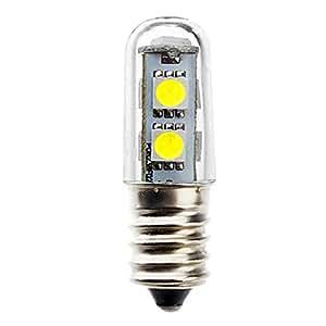 NoyoKere Mini E14 1W 7 LED 5050 SMD Nature/Lámpara Blanca cálida de la Bombilla del refrigerador, 110V / 220V: Amazon.es: Electrónica