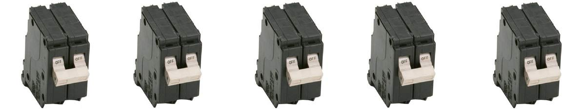 EATON CHF230 Series 30A DP CH Circ Breaker Black (5-(Pack))