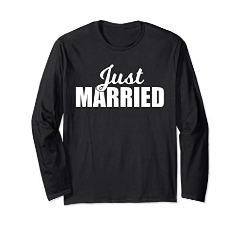 - Just Married Long Sleeve Shirt - Newlywed Couples Design
