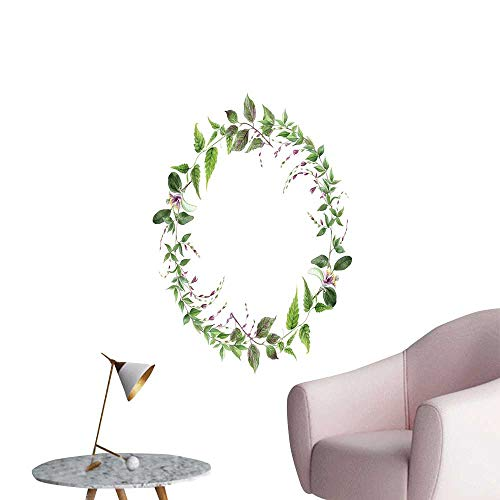 - SeptSonne Wall Stickers for Living Room SPR Flower Wreath Frame for Text Design Element for celebrat car Vinyl Wall Stickers Print,12