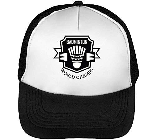 Sport Blanco World Snapback Negro Badge Hombre Champs Badminton Gorras Beisbol zqzEr