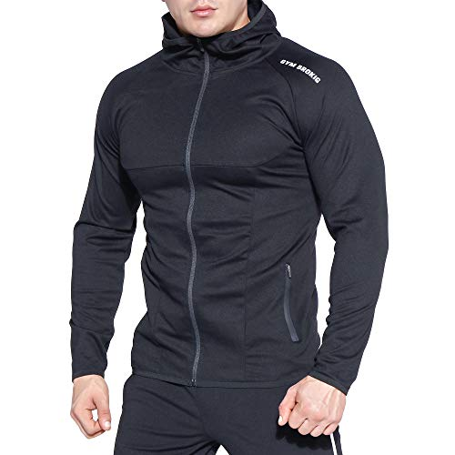 BROKIG Mens Dual-FIT Gym Hoodies Workout Muscle Casual Zip Sweatshirts – DiZiSports Store