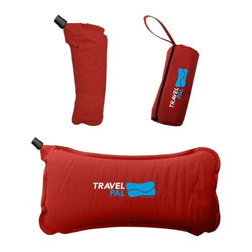 (Travel Pal Self Inflating Lumbar Support Pillow RED (LIFETIME WARRANTY))