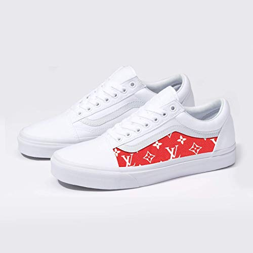 6857e007126 Vans Old Skool x LV Custom Handmade Uni-Sex Shoes By Patch Collection
