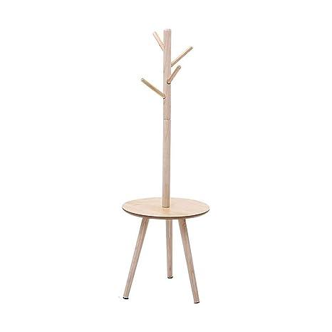ACZZ Perchas de piso de pino de madera maciza de estilo ...