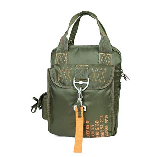 ARMYCAMOUSA AIR FORCE Parachute Buckles Hook Water Resistant Military Rucksacks Nylon Tactical Deployment Bag Document Bag Shoulder Bag Travel Totes