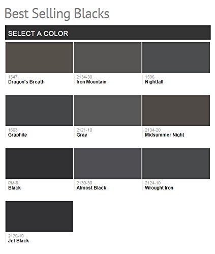 1G Benjamin Moore, BLACKS, Aura Waterborne Interior Paint - Eggshell - Black