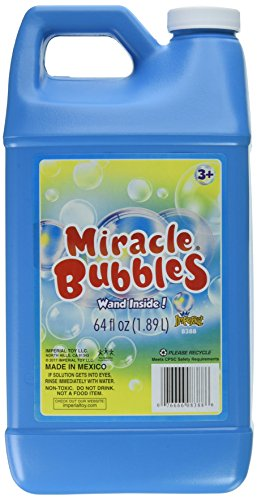(Darice upc 1021-13 Miracle Bubbles Solution Refill, 64-Ounce Bottle Colors May Vary)
