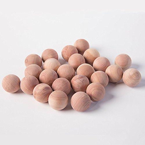 Huji Natural Cedar Wood Moth Protection Balls Non Toxic Moth Repellent Clothes Bedding Blankets