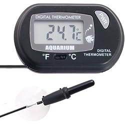 Aquarium Thermometer - TOOGOO(R) LCD Digital Probe Thermometer for Aquarium Terrarium - Black