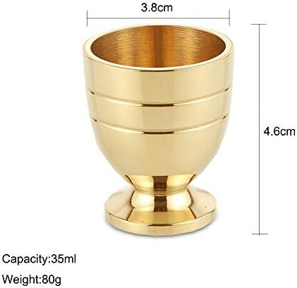 XXSC-ZC Copa de Vino de Cobre Puro, Copa de vanguardia de Vodka de Vodka de Licor, Copa de Vino pequeño de latón, decoración de Mesa, 35 ml