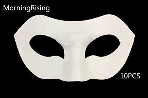 MorningRising Set of 10 White Eye Mask Painting Mask DIY Paper Mask Halloween Costume Mask