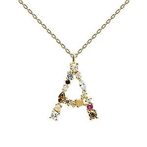 PDPAOLA – Collier Lettre A – Argent Sterling 925 Plaqué Or 18 carats – Bijoux pour Femme