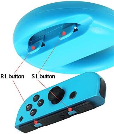 KEHUITONG 2 PCSはNintendレースゲームのための任天堂のゲームハンドルグリップコントローラの方向コントローラジョイスティック用ステアリングホイールスイッチ (色 : 青い)