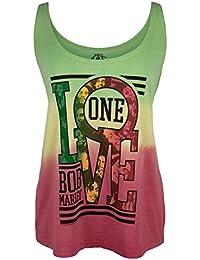 One Love Collage Tie-Dye Juniors Tank Top