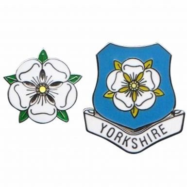 Yorkshire County Rose Pin Badges Leeds United