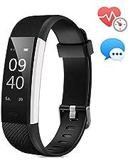 Fitness Armband ANEKEN mit Pulsmesser Wasserdicht IP67 Fitness Tracker Aktivitätstracker Pulsuhren Smartwatch Schrittzähler Uhr Vibrationsalarm Anruf SMS Whatsapp Beachten für iPhone Android Handy