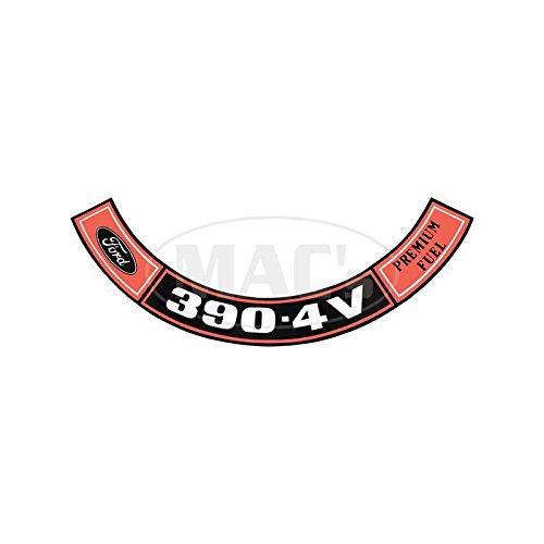 MACs Auto Parts 48-47343 Pickup Truck Air Cleaner Decal - 390 4V, Premium -