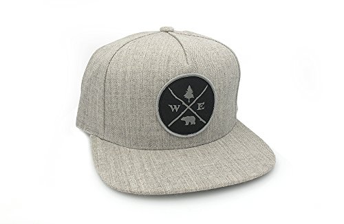 Men's Hat - Forest Compass Patch - Men's/Unisex 5 Panel Adjustable Hat with Patch - 2 Colors Available