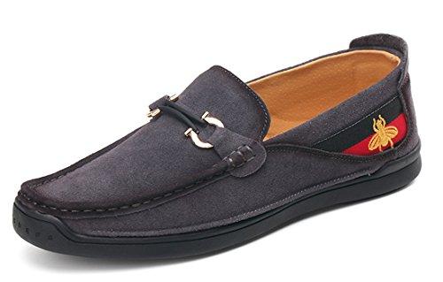 Tda Slip-on Para Hombre Moda Penny Loafers Cuero Barco Conducción Zapatos Para Caminar Gris