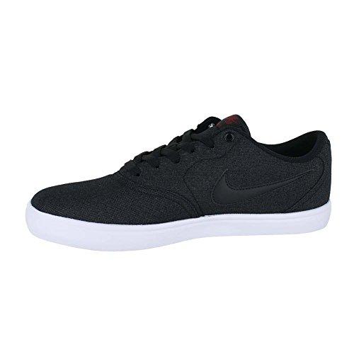 Nike Mens Sb Check Zonne Canvas Skate Schoen (13 D (m) Ons, Zwart Zwart Team Rood)