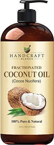 Fractionated Coconut Oil – 100% Pure & Natural Premium Grade Coconut Carrier Oil for Essential Oils, Massage Oil…