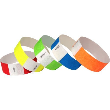 Variety Pack Inch Tyvek Wristbands product image