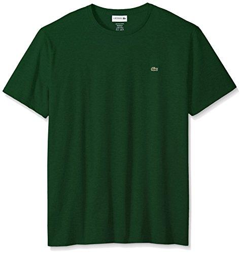 (Lacoste Men's Short Sleeve Crew Neck Pima Cotton Jersey T-Shirt, Green, Large)