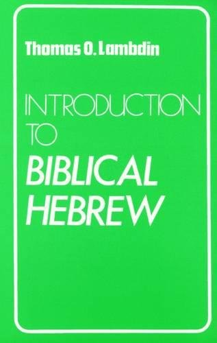 Introduction to Biblical Hebrew by imusti