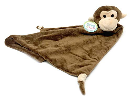 Plush Blue Monkey - Baby Security Blanket - 18