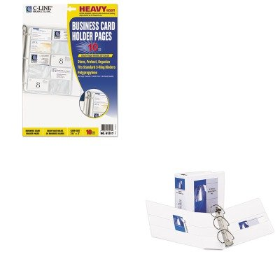 KITAVE09901CLI61217 - Value Kit - Avery Durable View Binder with Two Booster EZD Rings (AVE09901) and C-line Business Card Binder Pages (CLI61217) by Avery