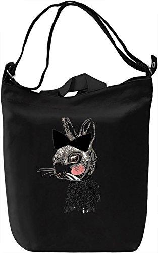 Bunny Borsa Giornaliera Canvas Canvas Day Bag| 100% Premium Cotton Canvas| DTG Printing|