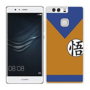 Funda carcasa TPU Gel para Huawei P9 diseño bola de dragón traje borde blanco