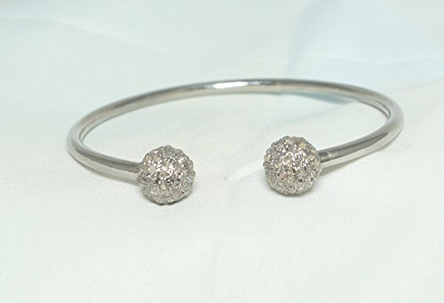 Victorian Rose Cut Diamond - Victorian Style 1.50ct rose cut uncut polki diamond Sterling Silver Bracelet 10mm Bangle