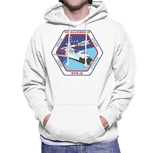 NASA STS 6 Space Shuttle Challenger Mission Patch Men's Hooded Sweatshirt