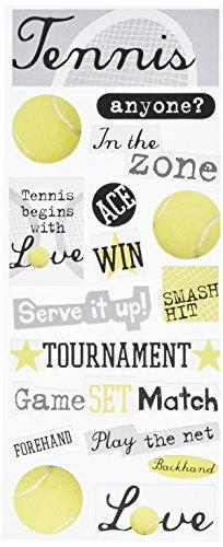 Me & My Big Ideas Self-Adhesive Designer Chipboard, Tennis