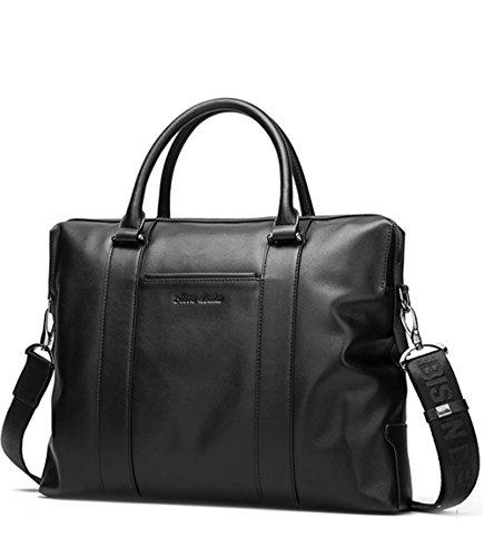 BINSON DENIM Herren Leder Aktentasche Herren Handtaschen Herren Umhängetasche Herren Laptop Tasche Hohe Qualität N2407