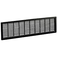 Bainbridge 1970BK Black Cabinet Ventilation Grill (Set of 4)