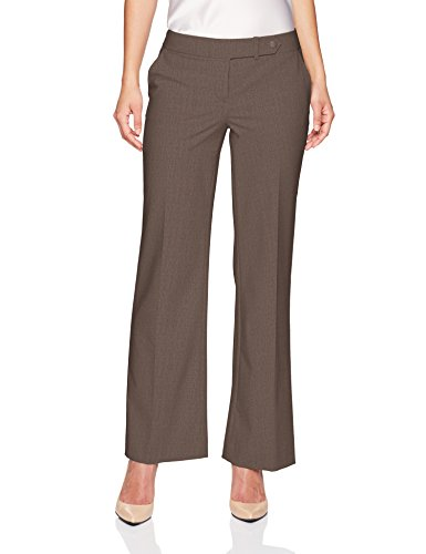 Calvin Klein Women's Petite Classic Fit Lux Pant, Heather Taupe, (Calvin Klein Petite Dress)