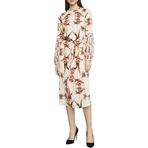 Shift Dress Fringe - BCBGMax Azria Women's Tulip Print Shift Dress, fringe tulips pop,  M