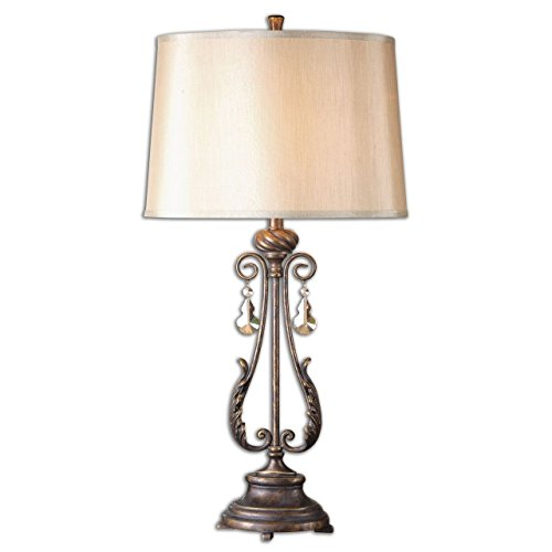 Open Old World Metal Table Lamp | Acanthus Scroll ()